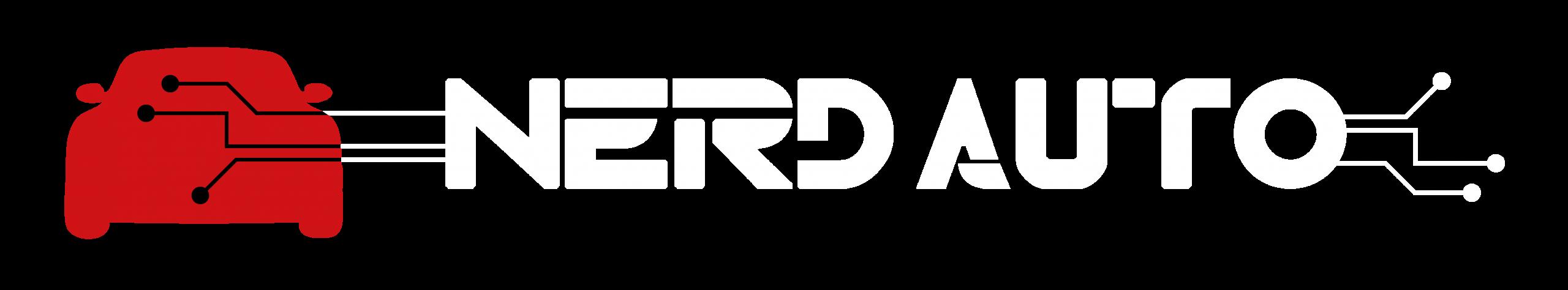 Logo Nerd Auto blanc